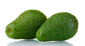 Two ripe avocado fruits Stock Photo