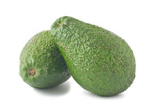 Two ripe avocados Stock Photography