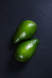 Two ripe avocados on a dark background Royalty Free Stock Image