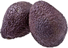 Two Ripe Avocados, isolated Stock Photos