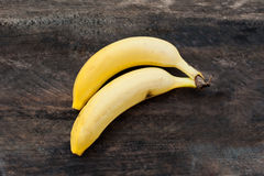 Two ripe banana Stock Images