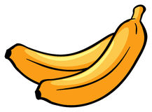 Two ripe bananas Royalty Free Stock Photos