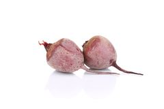 Two ripe beets. Royalty Free Stock Photos