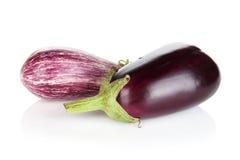Two ripe eggplants Royalty Free Stock Photos