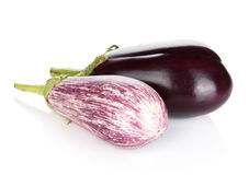 Two ripe eggplants Stock Photography