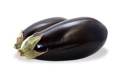 Two ripe eggplants isolated Royalty Free Stock Photo