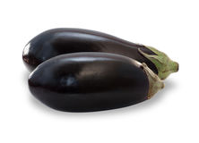 Two ripe eggplants isolated Royalty Free Stock Photos