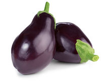 Two ripe eggplants Royalty Free Stock Photography
