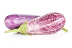 Two ripe eggplants Royalty Free Stock Photo