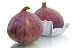 Two ripe figs Royalty Free Stock Photo