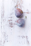 Two Ripe Figs Royalty Free Stock Photography