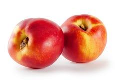 Two ripe juicy nectarine Royalty Free Stock Photo