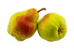 Two ripe and juicy pears Royalty Free Stock Photos
