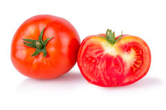 Two ripe juicy tomatoes Royalty Free Stock Photography