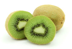 Two ripe kiwi Stock Images