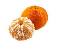 Two  ripe mandarins Stock Image