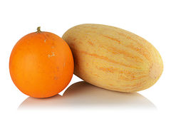 Two ripe melon Royalty Free Stock Photography