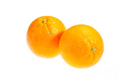 Two ripe oranges isolated on white Royalty Free Stock Image