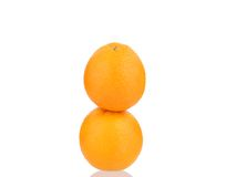 Two ripe oranges. Stock Photo