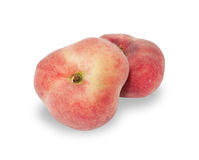 Two ripe peach isolated Stock Image