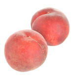 Two ripe peaches isolated Stock Photo