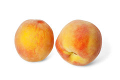 Two ripe peaches Stock Image