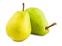 Two ripe pears Royalty Free Stock Photo