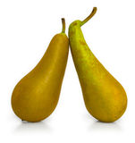 Two ripe pears Stock Photography