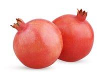 Two Ripe Pomegranate Fruits Stock Image