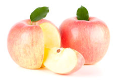 Two Ripe Red Apples Royalty Free Stock Photos