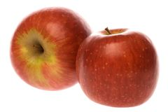 Two ripe red apples Royalty Free Stock Photography