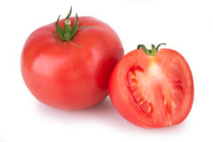 Two ripe red tomato Stock Images