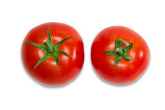 Two ripe red tomatoes closeup Royalty Free Stock Image