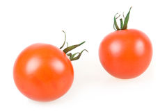 Two Ripe Red Tomatoes Isolated Royalty Free Stock Photography
