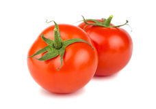 Two ripe red tomatoes Stock Photography