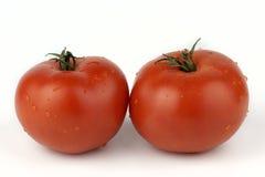 Two ripe tomatoes Stock Photos