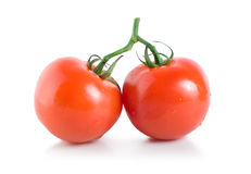 Two ripe tomatoes Royalty Free Stock Images
