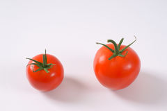 Two ripe tomatoes Royalty Free Stock Photography