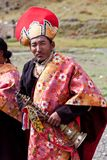 Two Rnying-ma-pa Tibetan monks Royalty Free Stock Images