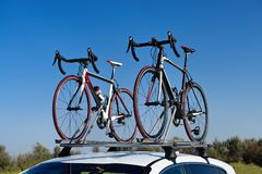 Two road bikes Royalty Free Stock Image