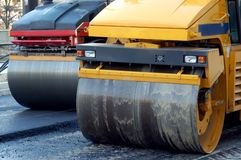 Two road rollers Royalty Free Stock Photos