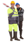 Two road workers Royalty Free Stock Photography
