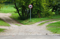 Two roads choice Royalty Free Stock Photo