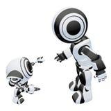 Two robot figures Stock Photo