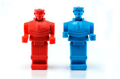 Two robot standing Royalty Free Stock Photos