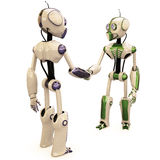Two robots Royalty Free Stock Photos