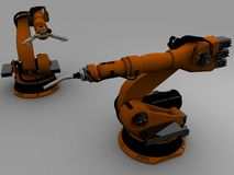 Two robots royalty free stock images