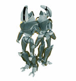 Two robots back to back. Two equal robots back to back Royalty Free Stock Image
