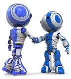 Two Robots Shaking Hands Royalty Free Stock Photography