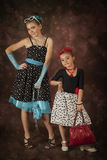 Two Rockabilly girls Royalty Free Stock Photography